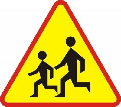 Znak drogowy A-17 dzieci