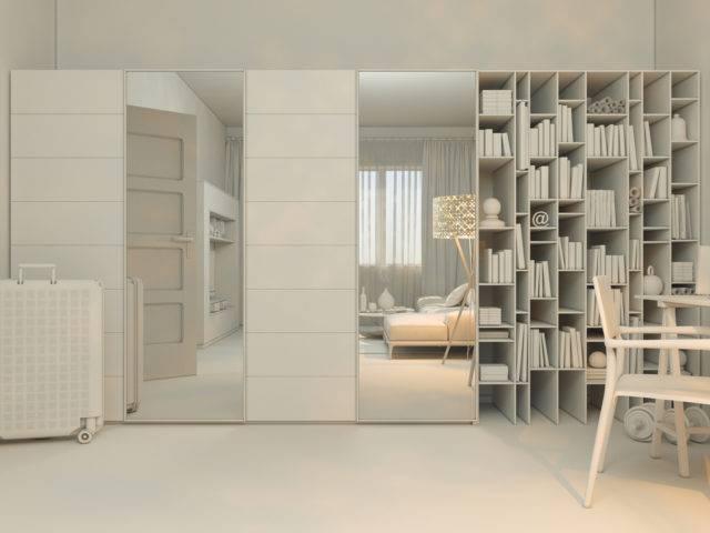 jak umblować małe mieszkanie duża i pojemna szfa