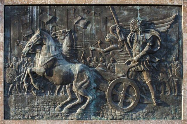 Aleksander Wielki jadący rydwanem