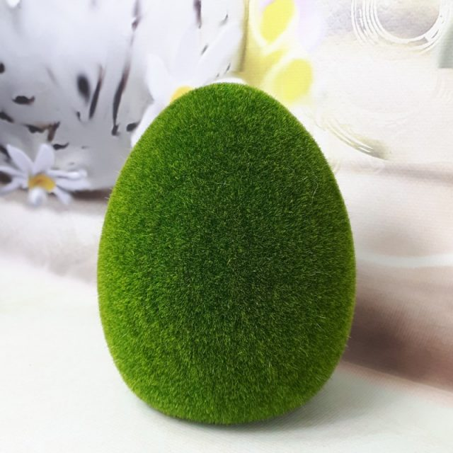 jajko flokowane 14cm zielone meszek