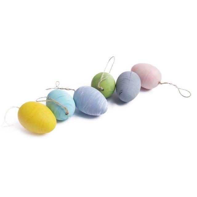 dekoracje na święta wielkanocne jajka zawieszki